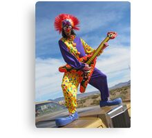 Clown Punk Guitarist Canvas Print