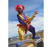 Clown Punk Guitarist Photographic Print