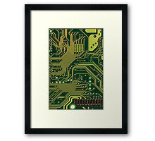 Funny Nerdy Computer Motherboard Framed Print