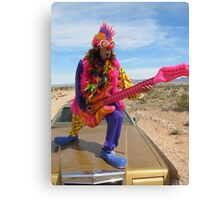 Clown Air Guitar Canvas Print