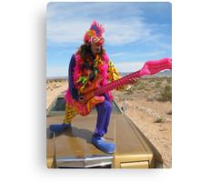 Clown Air Guitar Canvas Print