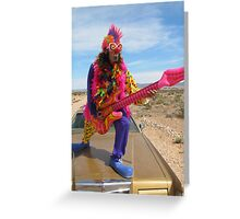 Clown Air Guitar Greeting Card