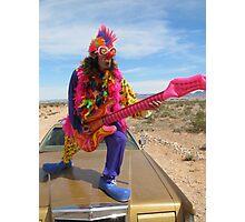 Clown Air Guitar Photographic Print