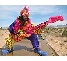 Air Guitar Clown Punk Photographic Print