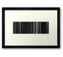 Moviebarcode: Serenity (2005) Framed Print