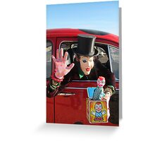 Top Hat Jack in the Box Greeting Card