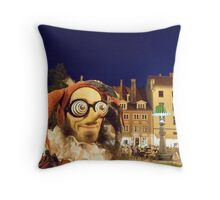 Surreal Jester Throw Pillow