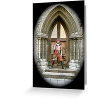 Jester in Europe Greeting Card