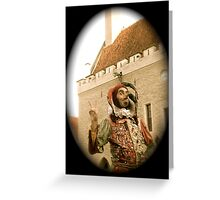 A Jester in Estonia Greeting Card
