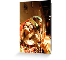 Jester in Vilnius Greeting Card