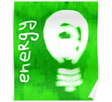 Energy, light bulb icon, eco concept  Poster