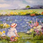Little Girl at the Pond by Cathy Amendola