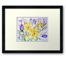 DAFFODILS AND TULIPS 3 45 Framed Print