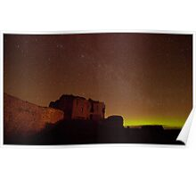 Northern Lights over Duffus Castle Poster