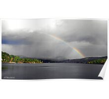 Rainbow Over Lake Fairlee Poster