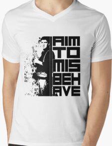 I Aim To Misbehave Mens V-Neck T-Shirt