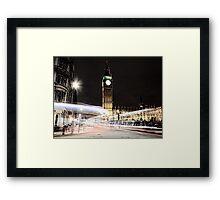 Big Ben with Light Trails Framed Print