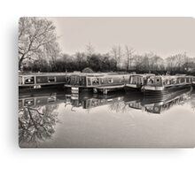 Vintage Canal Scene Canvas Print