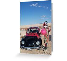Ladybird Space Hopper Fool Greeting Card