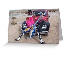 The Minstrel & his guitar Greeting Card