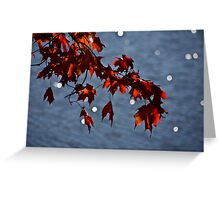 The Sun is Snowing Greeting Card