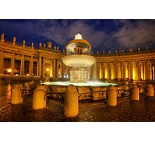 Fountain At St Peter's Square Photographic Print