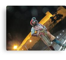 Jester & Skopje castle Canvas Print