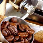 Espresso Beans on Their Way 2 the Coffee Mill by SmoothBreeze7