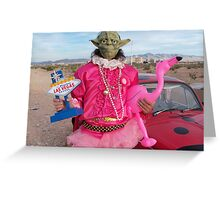 Yoda in Vegas Greeting Card