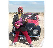 Retro Man guitarist Poster