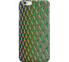 Green grid iPhone Case/Skin