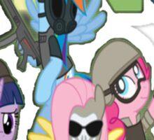 MW3 Ponies Sticker