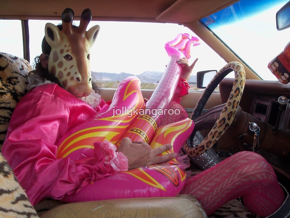 Giraffe Man plays guitar & drives by jollykangaroo