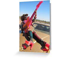 Pansy Guitarist Greeting Card