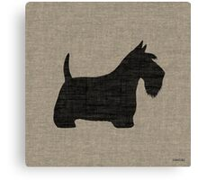 Scottish Terrier Silhouette(s) Canvas Print
