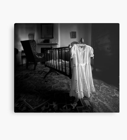 A White Dress In The Nursery Metal Print
