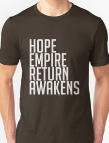 Hope Return Empire Awakens Quotes T-Shirt