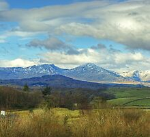 Crake Valley And The Coniston Fells by Jamie  Green