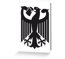Germany coat of arms eagle beer  Greeting Card