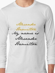 Alexander Hamilton Long Sleeve T-Shirt