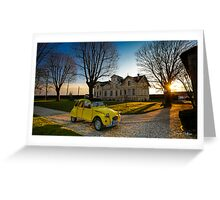 Sunset on legendary French car Greeting Card