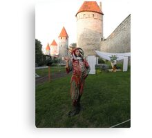 Jester in Tallinn Canvas Print