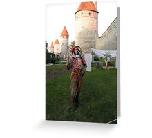 Jester in Tallinn Greeting Card