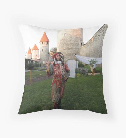 Jester in Tallinn Throw Pillow