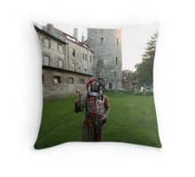 Court Jester in Estonia Throw Pillow
