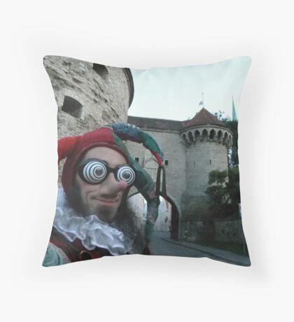 Court Jester Fool Throw Pillow