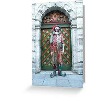 Jester Fool Greeting Card
