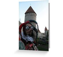 Psychedelic Jester Greeting Card
