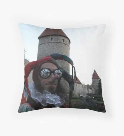 Psychedelic Jester Throw Pillow