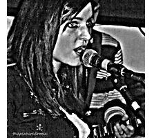 Singer Singing Photographic Print